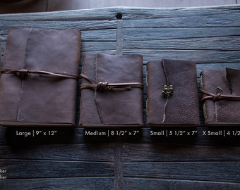 Chestnut Leather Journal | Handmade in the U.S.A. | Handstitched Journal