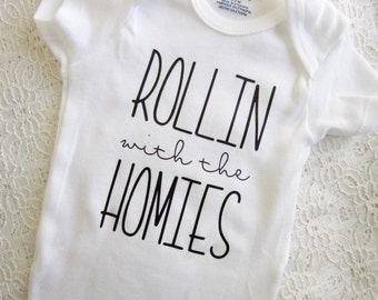 Baby Onesie - Rollin With The Homies