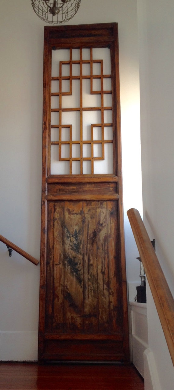 Chinese Old Carved Wooden Door