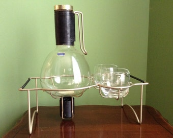 Vintage Coffee Carafe with Creamer and Sugar Set