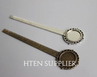 10pcs antique bronze/Ancient silver Wholesale 20mm  Bookmark Setting 20mm Cabochon Base Setting Bookmark