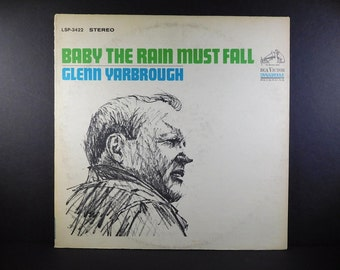 "Glenn Yarbrough ""Baby The Rain Must Fall"" Vintage 1965 Vinyl Lp"