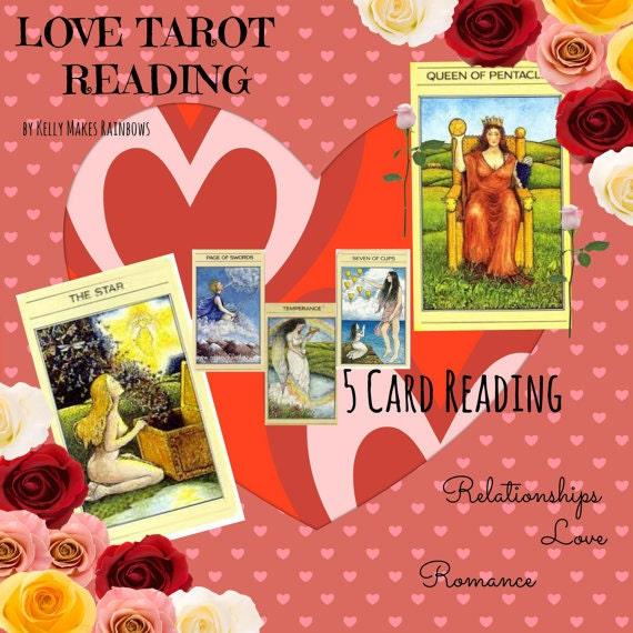 Love Tarot Reading 5 Cards By SilverTreeTarot On Etsy