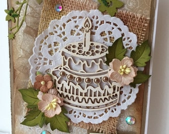 Shabby Chic Birthday Card