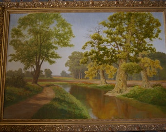 David Mead Oil painting country scene 35/6