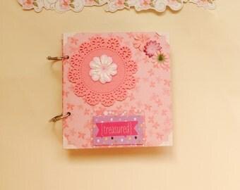 Mini album, pink mini album, scrapbook