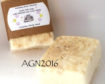 Goats milk soap with oatmeal and local honey