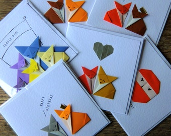 Personalised Origami card. Your message printed on the front of one of my cards.