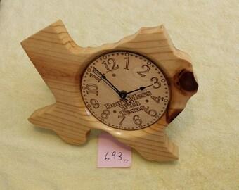 Texas Clock #693 Knotty Pine