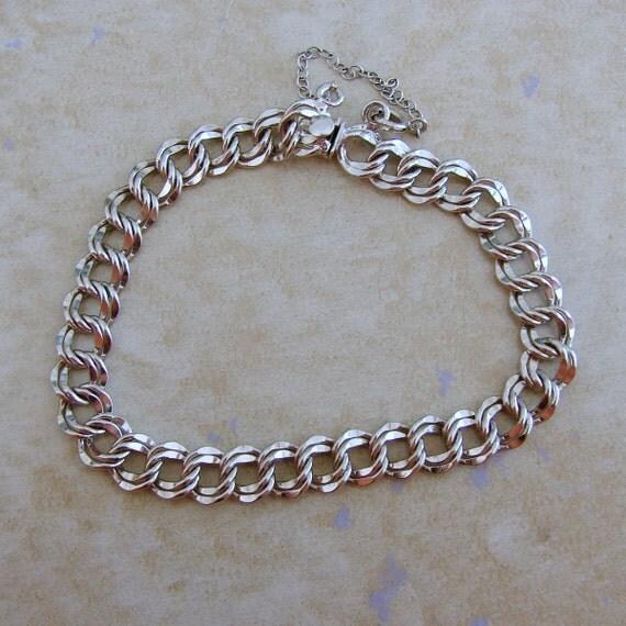 Starter Charm Bracelet: Elco Double Link Starter Sterling Silver Charm Bracelet Box
