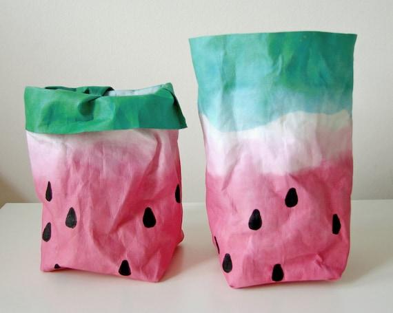 Watermelon Design Bag Storge Bag Basket Bin Small Storage