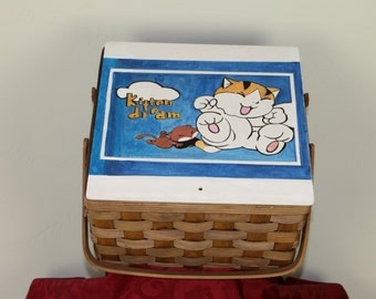 Hand Painted Gift Basket