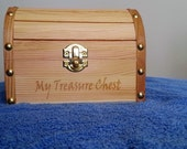Treasure Chest, Pirate, Treasure Map, Laser Engraved