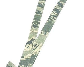 Military Camo Lanyard with Mini Nametape Bow(army acu, multicam/ocp, airforce abu, navy nwu, navy nwu III, marine woodland/desert)