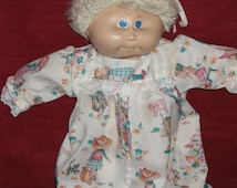 Cabbage Patch long nightgown or dress with Holly Hobbie fabric