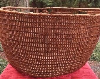Vintage Large Salish Woven Clam Basket
