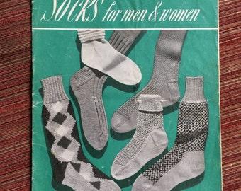 Knitting Book,Sock Knitting,Knitting How To,Needlecraft Book,Craft Book,Craft Manual,Knitting Collectible,Vintage Manual,Sock Needlework
