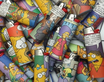 3 brand new custom Simpsons BIC lighters