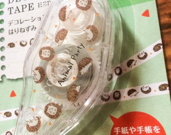Hedgehog Mini Deco Tape from Japan