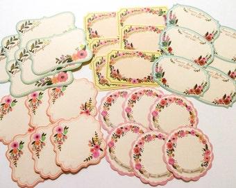 Floral Label Stickers - 30 Pieces