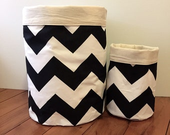 GIANT monochrome chevron Storage Baskets