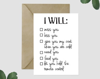 The Wedding Singer- I Wanna Grow Old With You Checklist GREETING CARD- Wedding, engagement, husband, wife, card for spouse, anniversary