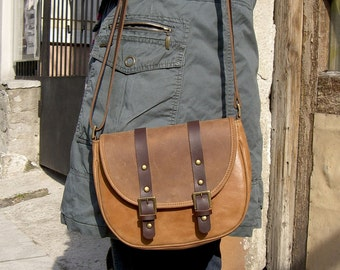 Leather Messenger Bag,  Leather Shoulder Bag, Womens Leather Messenger Bag, Leather Bag