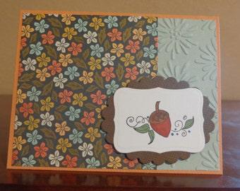 Charming fall card