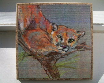 Mountain Lion NoZoo Art Tile