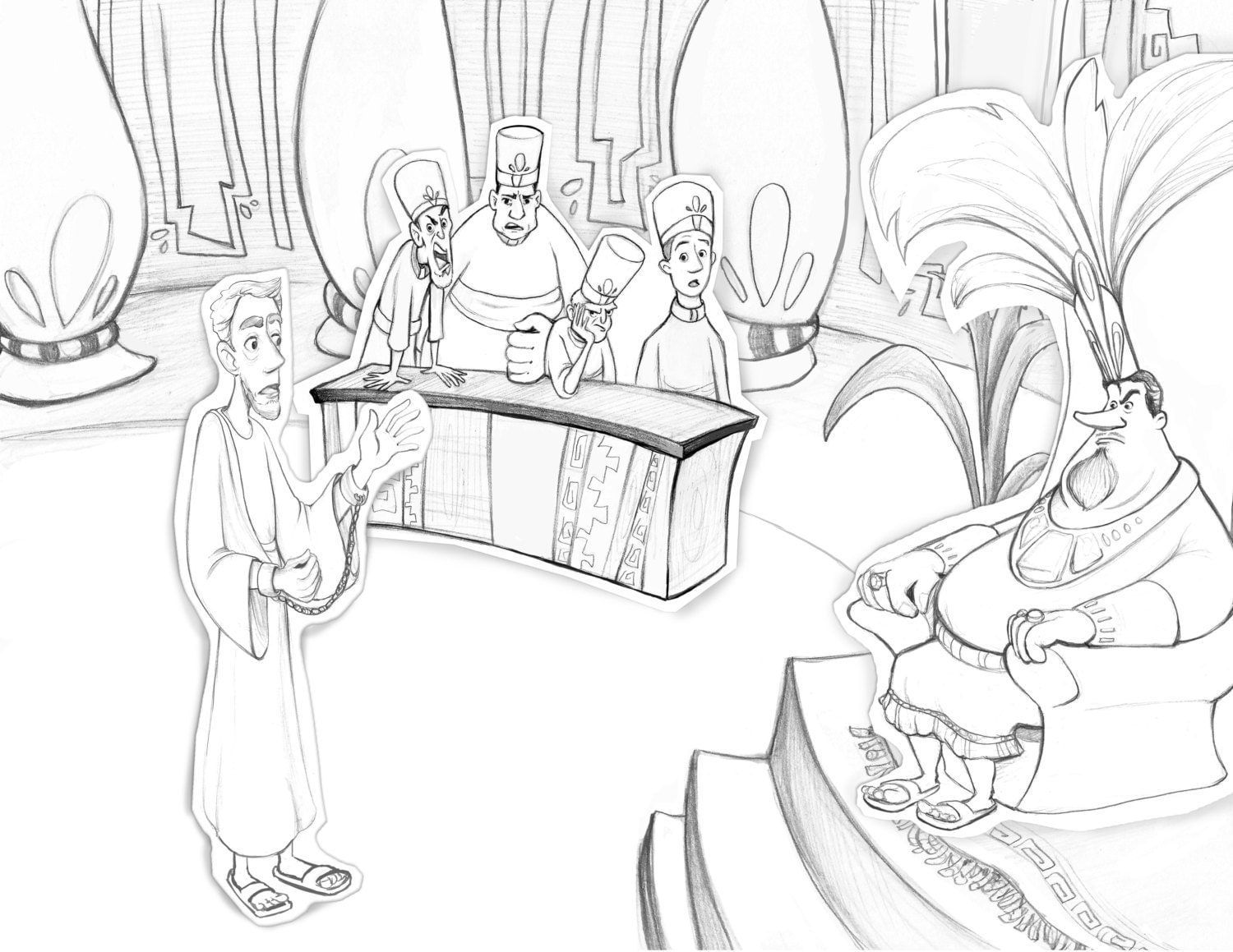 book of mormon abinadi coloring page teaching aid primary lesson
