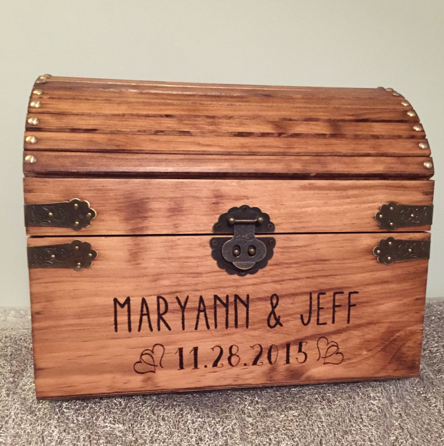 Extra Large Wedding Gift Box : Extra Large Lockable treasure chest gift box rustic finish