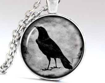 Black Raven Necklace Crow Pendant Raven Jewelry Pendants Necklaces Jewellery LG928