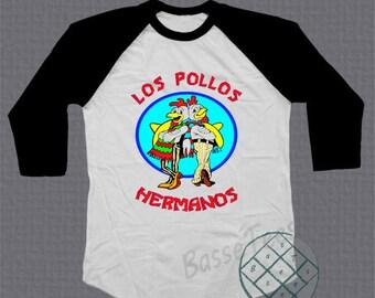 Los Pollos Hermanos shirt baseball tee raglan tshirt unisex size S - L