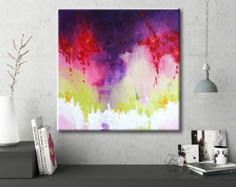 Pink Painting Violet painting Colorful art Abstract painting Canvas art abstract Wall art abstract Acrylic painting Contemporary art Modern