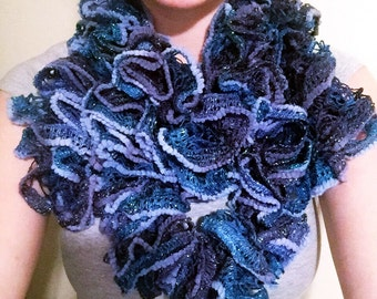Crocheted 'Curly' Scarf