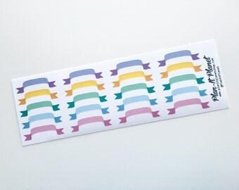 Pastel Banner Stickers