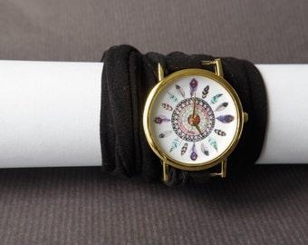 Multistrand bracelet watches Women's watches  Infinity bracelet Stretch wrist tattoo cover watches  Gift for teen girl Wrist Tattoo Cover