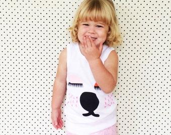 Snoozy Bear Organic Cotton Screen Printed 3-4 size kids top