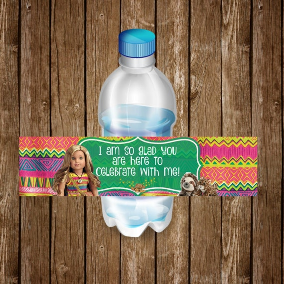Lea Clark American Girl Doll Water Bottle Labels