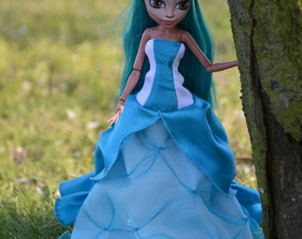 Monster High and Ever After High handmade blue ball gowns