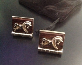Vintage Horse Cufflinks| Medieval Jewelry| Gift For Him