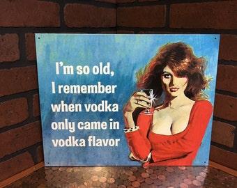 Funny Vodka Tin Sign