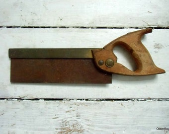 Vintage handsaw rusty old saw superior warranted hand saw
