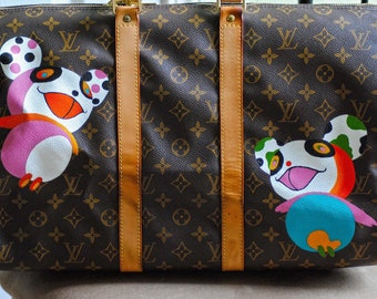 Personalized custom hand painted LV Bag