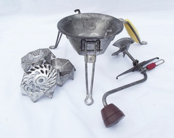Retro vintage French mincer, vegetable grater, potato mincer, food mincer, hand held potable kitchen gadget, 1950's, unique kitchenalia