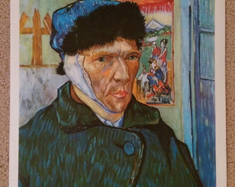 Van Gogh Self Portrait with Bandaged Ear Large Reproduction