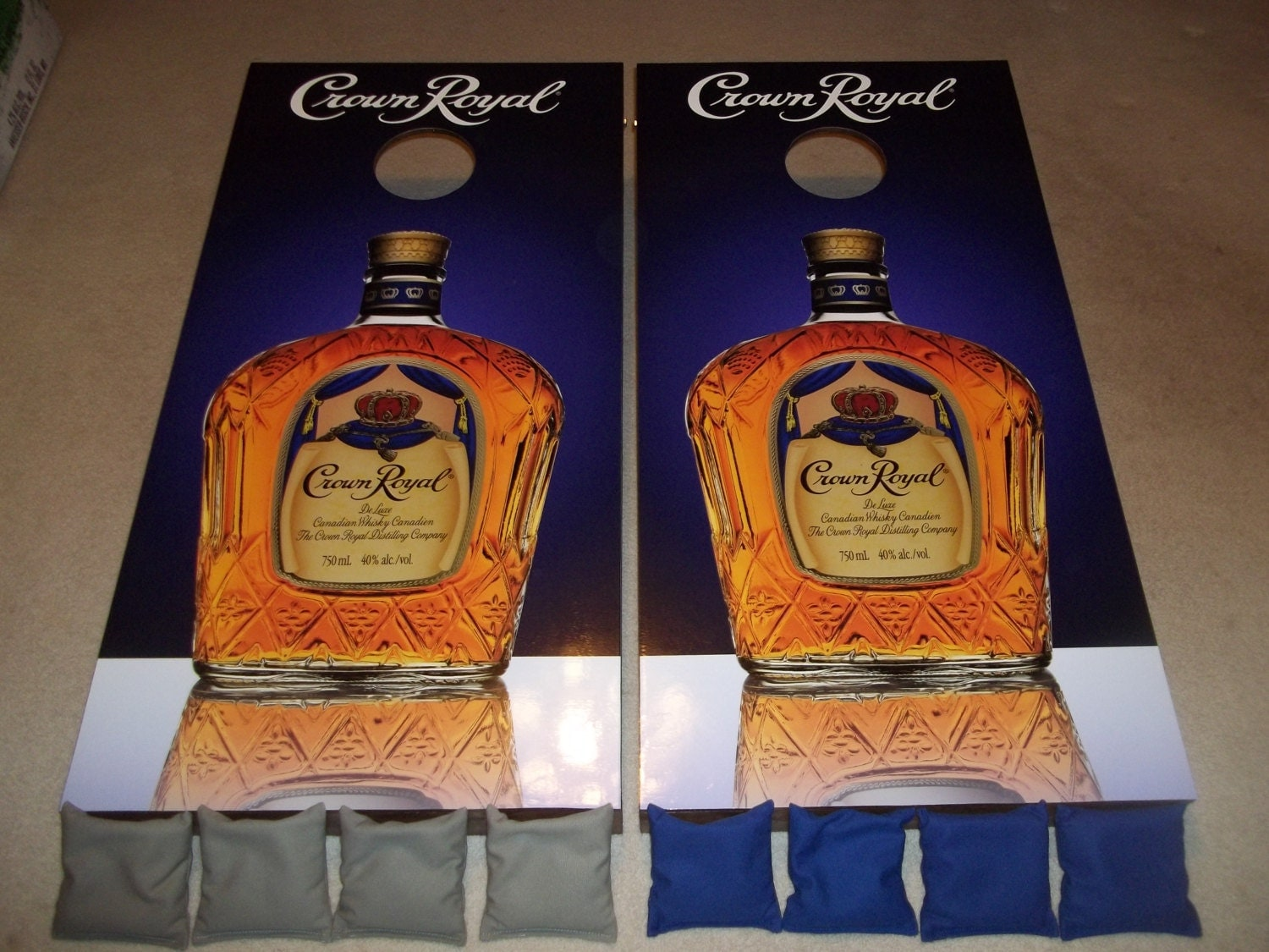 Crown Royal Corn Hole Boards Bean Bag Toss Game