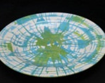 Swirl Plate, Blue and Green Charger