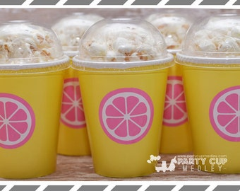 Pink Lemonade Favor Cups-Lemonade Stand Party Cups