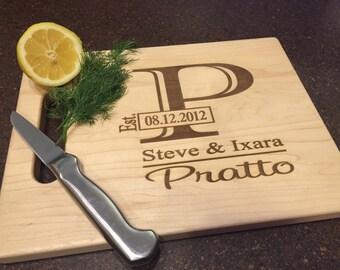 Personalized Cutting Board, Engraved Cutting Board, Custom Cutting Board, Wedding Gift, Housewarming Gift, Anniversary Gift, Engagement Gift